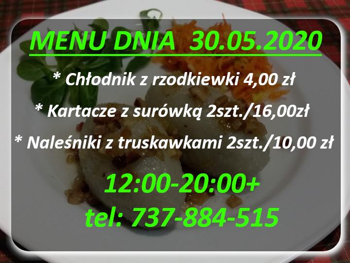 Menu Dnia restauracja Korona Augustów 04-10.01.2020r.