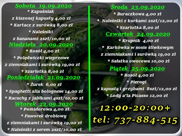 Menu Dnia restauracja Korona Augustów 11-17.07.2020r.