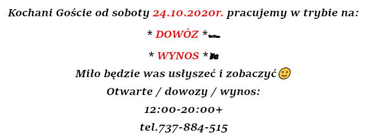 Dowozy i na wynos z rastauracji Korona Augustow 12:00-20:00
